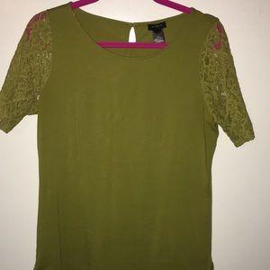 Ann Taylor Light olive top. Size M.